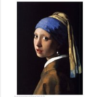artist earrings - hand painted canvas oil paintings picture portrait Artist Jan Vermeer famous Reproduction painting Girl with a Pearl Earring order lt no tra