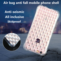 air bag shock - Air bag anti fall transparent mobile phone soft shell anti shock thin silica gel protective sleeve explosion proof For Iphone