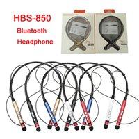 Neckbands bluetooth Prix-HBS850 Sport Bluetooth Casque HBS-850 Neckband Casque mains libres pour iPhone pour Samsung pour Bluetooth Device avec Retail Box DHL EAR183