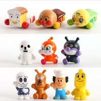 Wholesale Anpanman bacterial boy style character doll ornaments finger coupling model toys