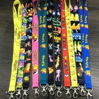 Wholesale 2016 new Poke Go All Ages Fashion Lanyard Keychain Pikachu ID Badge Holder Protector Mobile Phone Charms Straps High Quality