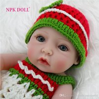 Cheap Full Vinyl Girl Body Silicone Reborn Baby Dolls Jointed Cute Doll with Handmade Sweater Kids Newborn Toys For Mother's Day