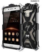 aluminum heavy metal - huawei P9 P9 lite p9 plus ginal Design Armor Heavy Dust Metal Aluminum THOR IRONMAN protect phone shell case cover for huawei P9