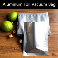 beef bag - 50pcs Large Heat Sealed Aluminum Foil Vacuum Packaging Bag Open Top Foil Pouch Cookies Meat Beef Storage Bag Accepted Logo Printing