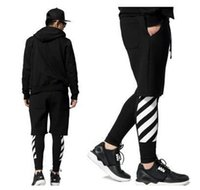 Wholesale Pyrex off white stripe printed hiphop hip hop lovers mens hiphop legging ktz fashion brand man leggings