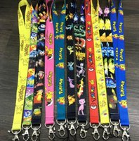 Wholesale Poke Go All Ages Fashion Lanyard Keychain Pikachu ID Badge Holder Protector Mobile Phone Charms Straps High Quality