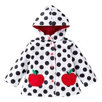 Wholesale Boys Girls Childrens Outwear Clothing Long Sleeve Hooded Tench Coats Dot Wind Rain Proof Camping Hiking Jackets Kids Clothes