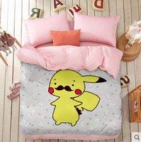Wholesale DHL OR FEDEX Poke Sheets Cartoon Animal Bedding Set Cotton Poke Duvet Cover for Kids Bedroom Decor