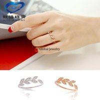 amazon source - 925 sterling silver ring inlaid olive leaf Micro Ring Sterling Silver Ring opening Jingdong Amazon explosion source