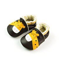 baby dear shoes - Cute Baby Kids Genuine Leather First Walker Shoes Dears Design Fleece Lining Fall Winter Casual Shoes