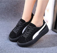 shoes big size - Big Size women casual Rubber shoes Rihanna suede SNEAKED SHOES couple lovers colors Suede Creepers Platform Shoes Marque Shoes