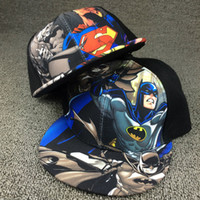 Wholesale Children s Hero Cartoon Caps Snapback Caps Superman Batman Spiderman Ironman Avenger Caps Hats Kids Boys Baseball Cap Christmas Gift
