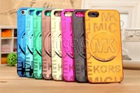 big hard cover - For iPhone SE S Luxury PC Electroplated Cell phone Case Big Circle Series Hard Protective Back Cover With OPP Bag