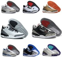 Cheap Originals retro MJ 3 men basketball shoes online cheapest sale good quality sneaker US size 8-13 with BOX free shipping