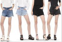 Cheap 2016 Alw NEW FASHION BRAND SHORTS women's Jeans high waist jean women denim short pant femme mujer 5 pockets GOOD Quality Hot-selling
