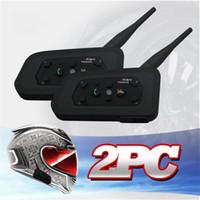 Wholesale V6 Helmet Intercom Riders M Motorcycle Bluetooth Intercom Headset Walkie Talkie Helmet BT Interphone
