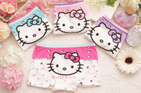 Wholesale 6PCS Cartoon Hello Kitty Cotton Girl Underwear T Children Cute Briefs Kids Panties Children Underwears GI2149