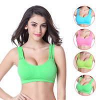 Wholesale Women Padded Sport Bra Summer U Shap Wireless Plunge Push Up Bras Soft Hollow Out Back Moulded Bra Yoga Outdoors Underwear