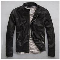 Wholesale Genuine Leather Jacket Men Real Sheep Skin Leather Man s Motorcycle Biker Coat Fashion Casual Brand Designer Spring Autumn