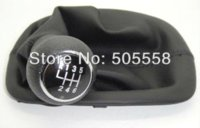 Wholesale Speed Gear Shift Knob amp Gaitor Boot For VW Passat B5 Black Color