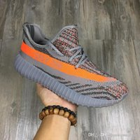 air yeezys - Yeezys Boost V2 Kanye West Season SPLY Orange Streaked Sneakers Black White Stripe Season Boost For Men Women Size