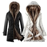 Wholesale Hot New Hooded Women s Fur coats Winter With Faux Fur Ling2016 Long Coat women s Outerwear women s clothes plus size women jackets