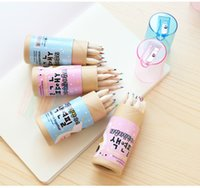 Wholesale A9 fine stationery color pencils Cute constellation girl pencils Coloring pencil with sharpener