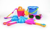 best sand toys - Hot beach toys KIDS play sand beach swimming toy Beach BucKET set play sand outdoor toys piece SET CE AND CCC QUALITY kids best friends