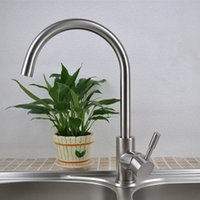 Wholesale Sanitary Products Stainless Steel Lead Free Wire Drawing Kitchen Water Tank Hot and Cold Mixed Water Tap Faucet