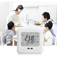 Wholesale Touch Screen Weekly Programmable Heating Thermostat Blue Backlit C07 H3 A Cheap Price hot selling