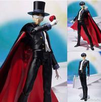 Wholesale SHF Figuarts Sailor Moon Tuxedo Mask Chiba Mamoru Doll th PVC Action Figure Model Toy cm Inch