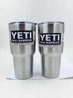 Wholesale Yeti oz Cups Stainless Steel YETI Rambler Tumbler Cup Vehicle Beer Mug Double Wall Bilayer Vacuum Insulated ml YETI Drinkware