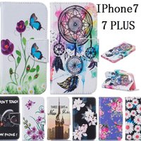 accessories wallet - cell phone case accessories colorful printing dream catcher super slim flip pu leather wallet case for iphone