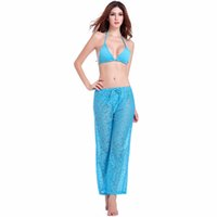 Wholesale new arrival Ladies beach pants high grade lace straight tube seaside resort casual pants comfortable and breathable