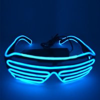 Wholesale LED Light Glasses Flashing Shutters Shape Glasses LED Flash Glasses Sunglasses Dances Party Supplies Festival Decoration
