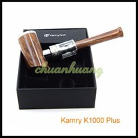 lighting kit - 2016 Newest E Pipes Kamry K1000 Plus Starter Kit Vape Epipe Mods Vaporizer with LED Light Ring mah Battery ml atomizer DHL free
