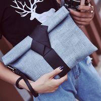 Wholesale Women s envelope clutch bag color stitching casual fashion pu leather ladies handbag party evening bag totes colors