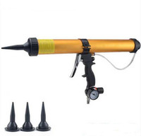 air cartridge guns - 600ml pneumatic air glass glue gun air caulking gun set glass glue tools