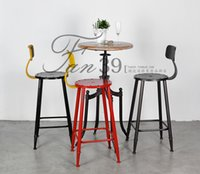 barstools furniture - American country to do the old wrought iron bar chairs retro style mining industry wind Barstools leisure furniture bei jiayue1