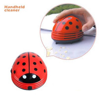 Wholesale Portable Mini Ladybug Shape Red Beetles Table Dust Vacuum Cleaner Dust Collector