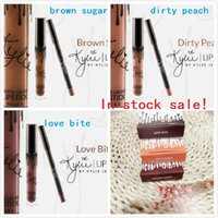Wholesale 40 kits in stock Brown Sugar Dirty Peach Love Bite KYLIE JENNER LIP KIT Kylie Matte Liquid Lipstick Lip Liner Kylie lip New Color