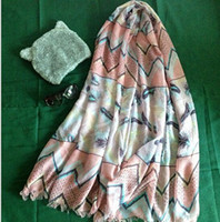 big beach - 2016 beach summer scarf pink stripes floral pattern style large big size cm length PC one set