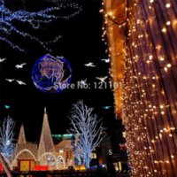 Wholesale 1000LED M M curtain string lights Christmas Garden lamps New year Icicle Lights Xmas Wedding Party Decorations