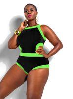 Wholesale Womens Plus Size Sexy One Piece Swimwear Brand Retro Patchwork Ladies Swimsuit High Quality Summer Bathing Push Up Beachwear