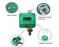 alkaline copper - 9V alkaline battery Rain Sensor Automatic Watering Timer ABS copper Garden Flower Plant Program Irrigation Timing Controller