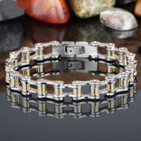 best bicycle chain - Fashion Charm Best Friends Mens Bracelets Men Jewelry Gold Stainless Steel Motorcycle Bicycle Chain Link Men s Bracelets