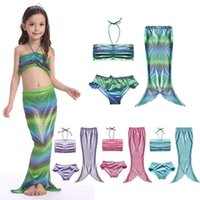 Wholesale 2016 HOT colors kids the mermaid bikini set skirt swimsuit children bathing suit for baby girls swimwear S XL Y05