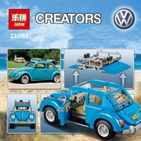 beetle toy car - New LEPIN Creator Series City Car Beetle model Building Blocks Compatible10252 Blue Technic children toy gift