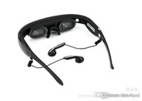 Wholesale 72 inch virtual screen video glasses D movie glasses built in GB flash memory smart glasses novel electronic products DHL