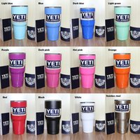 Wholesale 12 colors YETI Rambler Tumbler Cup Purple Pink Blue Light Blue Orange Light Green Red Black Tumbler Mug IN STOCK